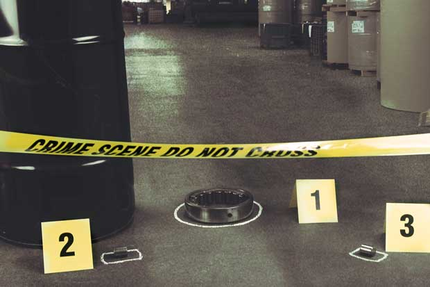 Machine crime scene